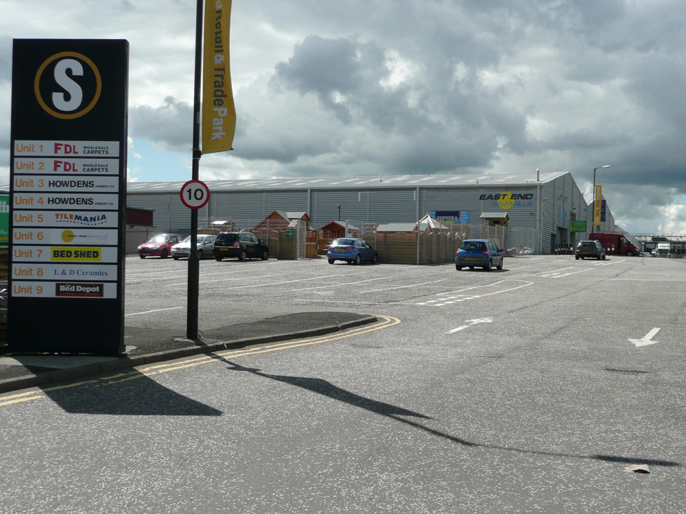 Shawfield Retail & Trade Park, Glasgow