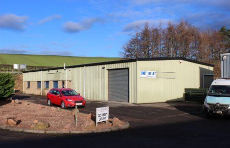 To Let – 3,875sqft Roadside Workshop, Prestonhall Trading Estate, Cupar